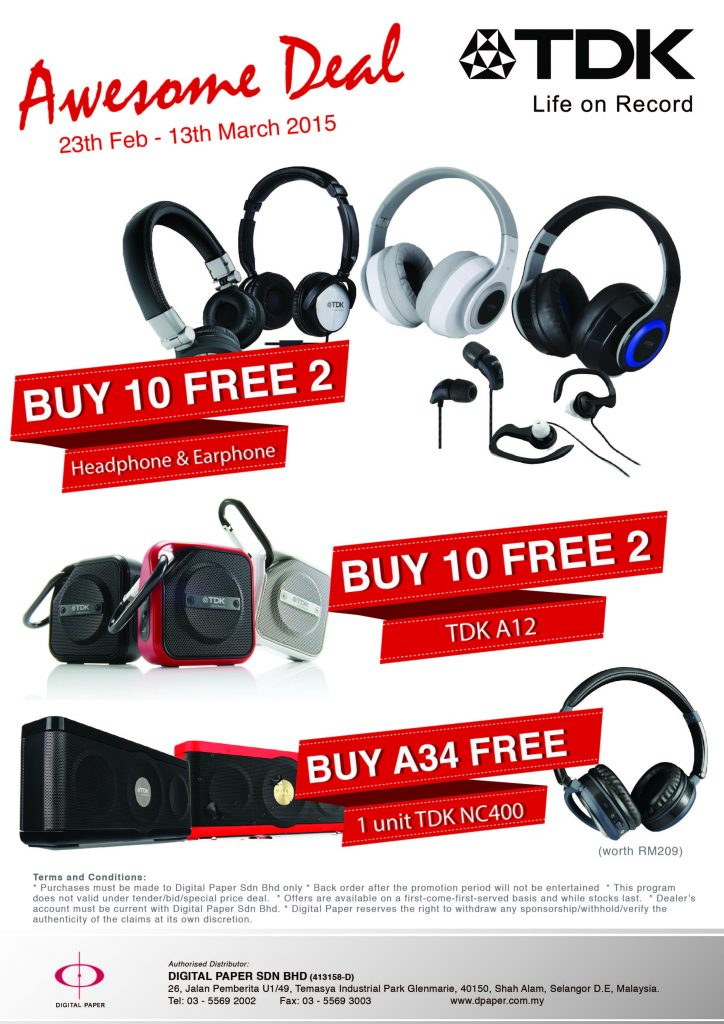 TDK awesome deal